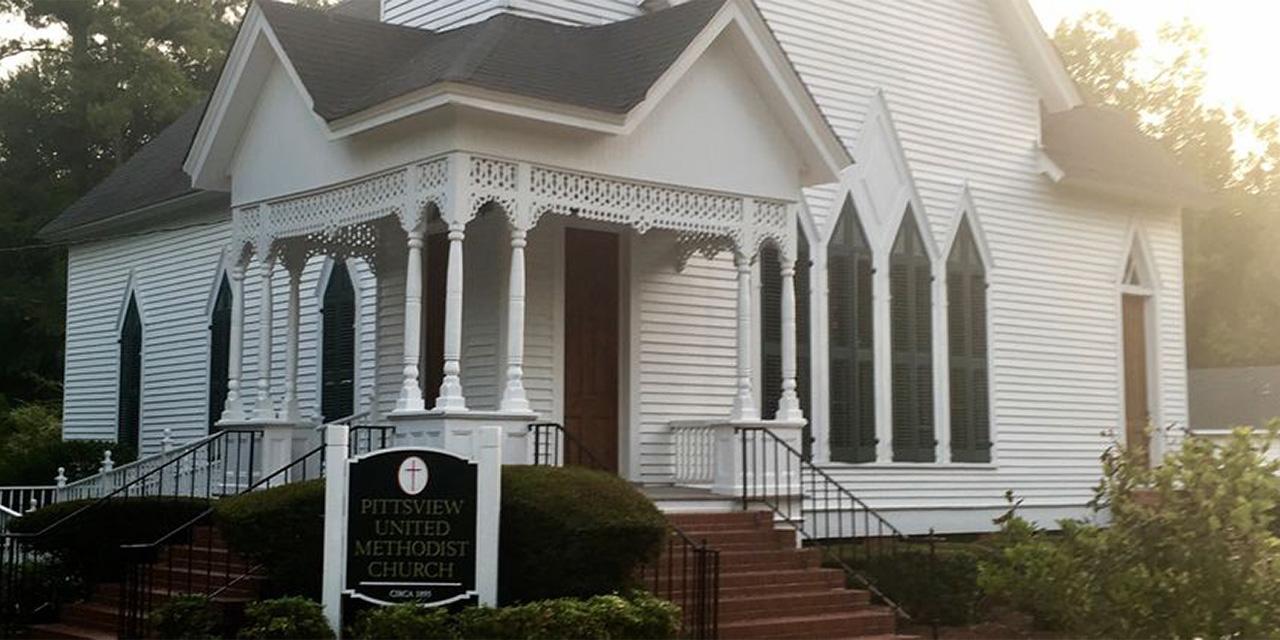 Pittsview: pair of historic churches