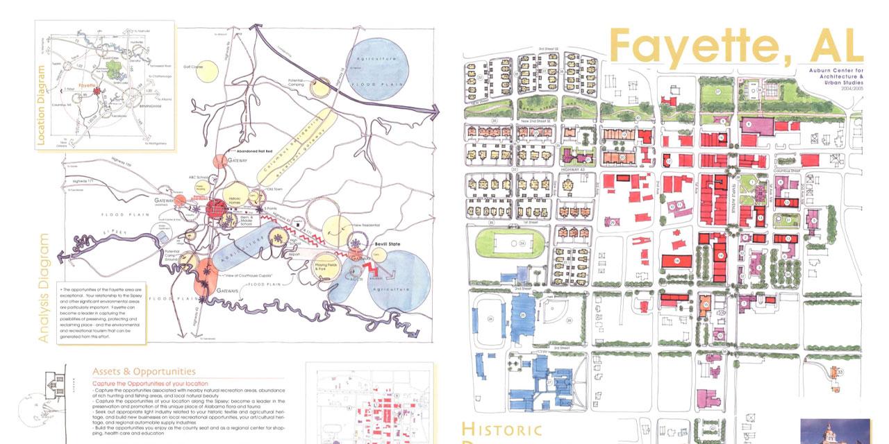 The Posters of Auburn's Urban Studio Small Town Design Initiative